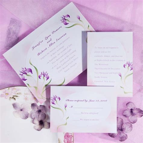 purple wedding invitations lavender inspired wedding color ideas and wedding