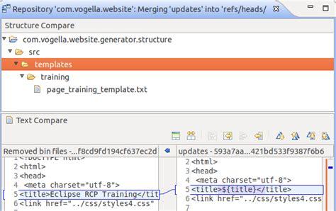 Eclipse Git Tutorial Merge | git version control with eclipse egit tutorial