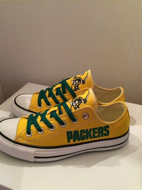 green bay packer sneakers shoes bays and converse tennis shoes on