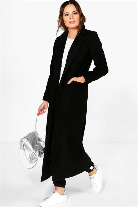Maxi Coat boohoo womens keira maxi length tailored coat ebay