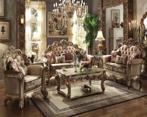 Vendome Bone Fabric Living Room Set By Acme Furniture Acme Living Room Furniture