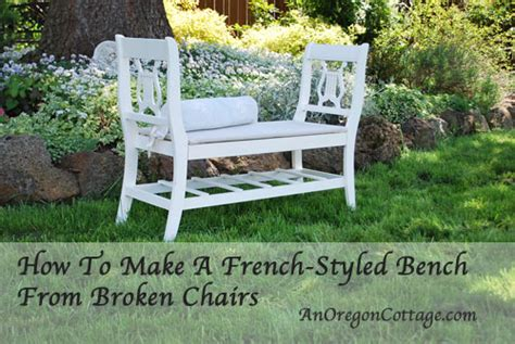 bench made from old chairs how to make a french styled bench from old chairs