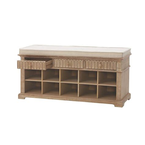 home decorators bench home decorators collection washed oak bench 9200100930 the home depot