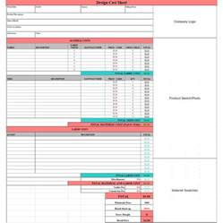 costing spreadsheet template cost analysis spreadsheet