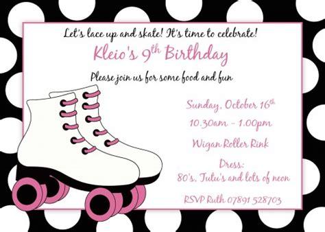 roller skating birthday invitations template best