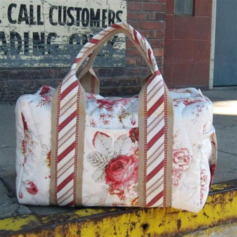 free pattern overnight bag make a beautiful duffel for travel quilting digest