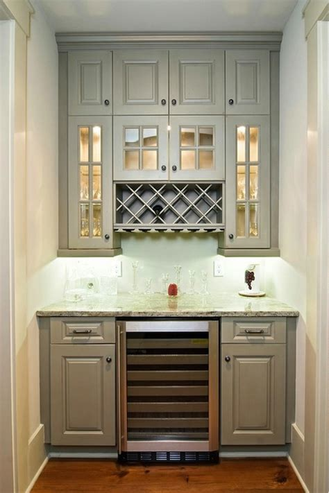 built in wine rack transitional kitchen