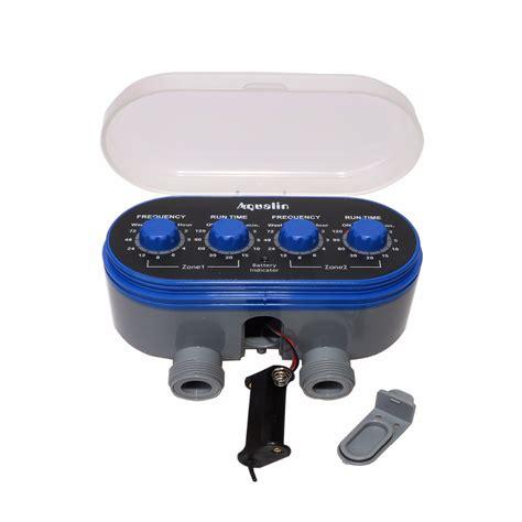Timer Irigasi Air Taman Otomatis timer irigasi air taman otomatis 2 outlet blue jakartanotebook