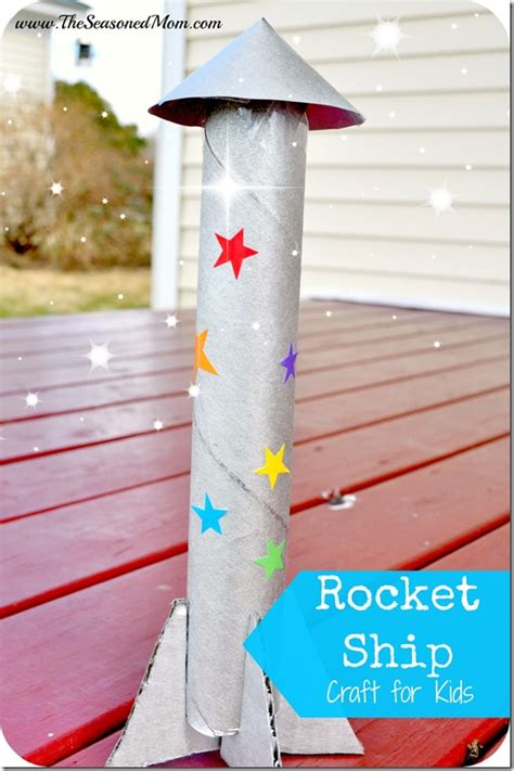 How To Make A Rocket Ship With Paper - rocket ship craft for