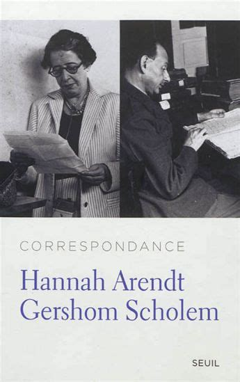 the correspondence of arendt and gershom scholem books arendt scholem un rendez vous impossible la vie des id 233 es