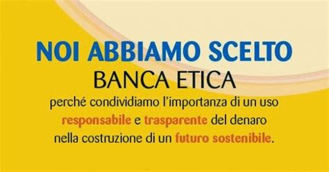 conto banca etica conto giovani di banca popolare etica