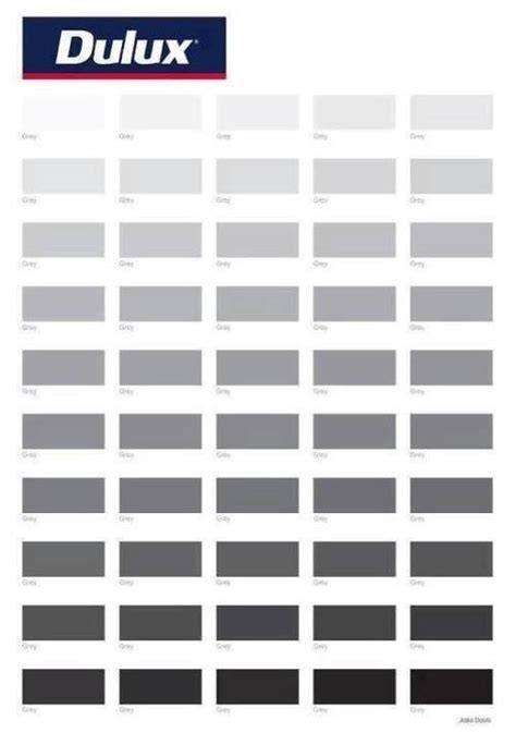 shades of grey color chart fifty shades of grey