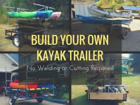 Boat Handrail Fittings Build Your Own Kayak Trailer No Welding Or Cutting Required