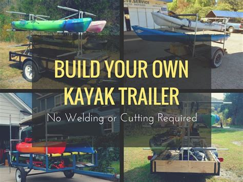 how to build a boat trailer youtube build your own kayak trailer no welding or cutting