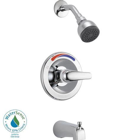 peerless single handle tub and shower faucet trim kit in