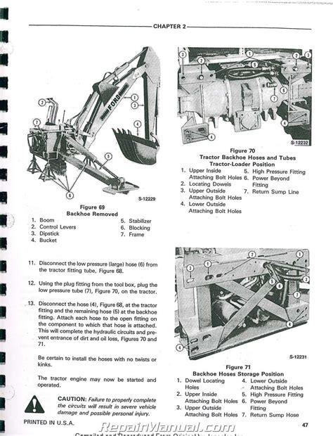 backhoe parts diagram ford 555a 555b 655a tractor loader backhoe printed service