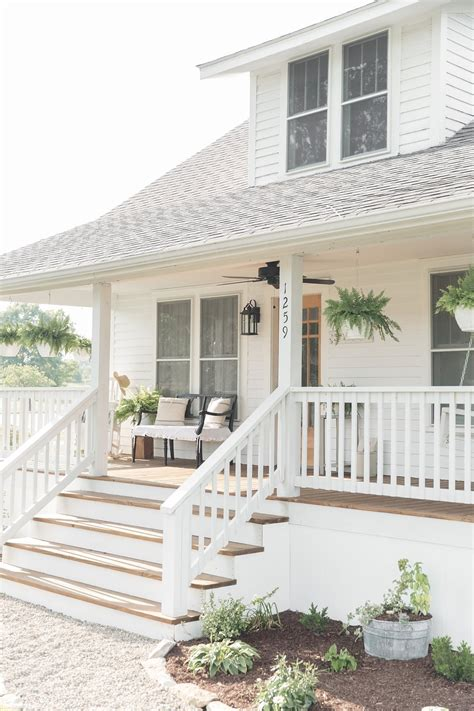 farmhouse porch farmhouse porch curb appeal makeover reveal farmhouse on