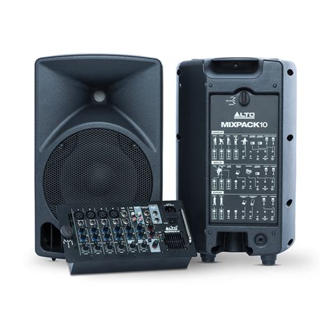 Mixer Alto Sound System alto mixpack 10 all in one portable sound system