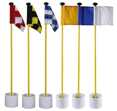 backyard putting green flags backyard practice golf hole pole cup flag stick putting