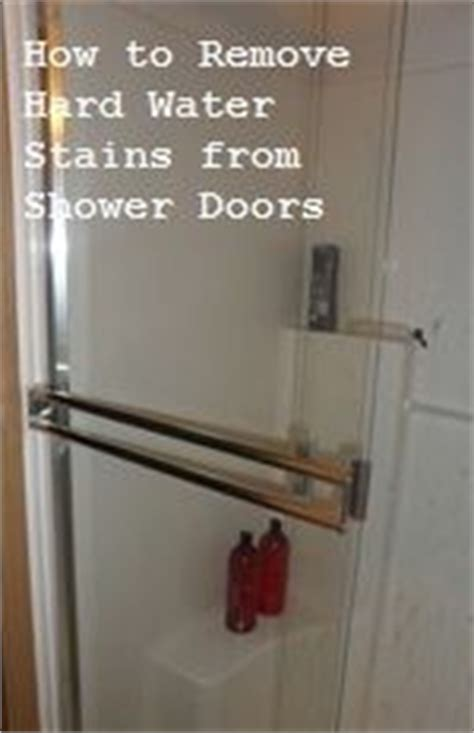 How To Remove Water Spots From Shower Doors by Water Stains On Remove Water Rings Water