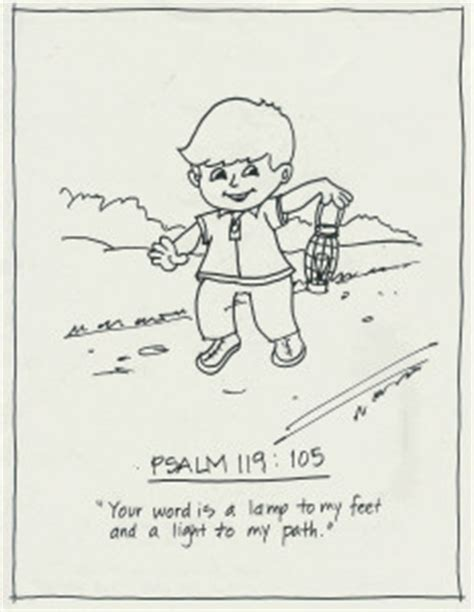 printable version of psalm 119 psalm 119 105 coloring page coloring pages