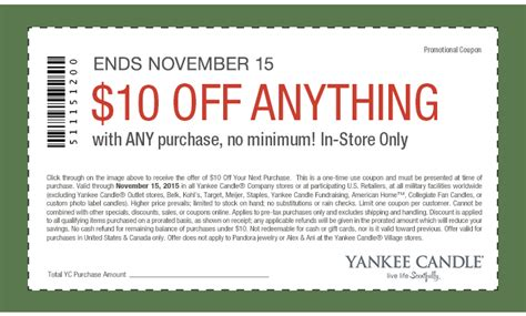printable coupons yankee candle outlet free yankee candles at yankee candle stores with 10 off
