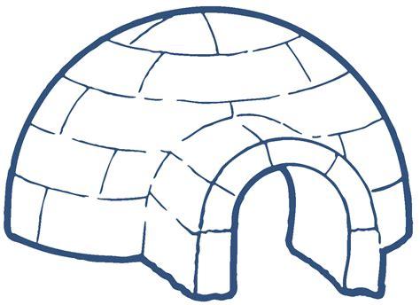 coloring page igloo iglu clipart