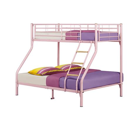 pink bunk bed leah pink triple bunk bed