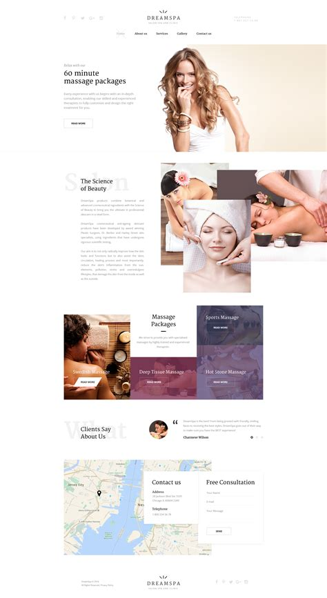 Spa Website Template Free Spa Website Templates