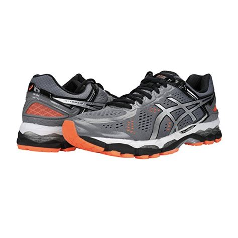 asics flat running shoes the asics men s gel kayano 22 running shoe is great for