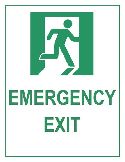Emergency Exit Sign Exit Template