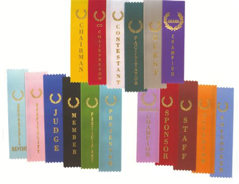 color place stock ribbons