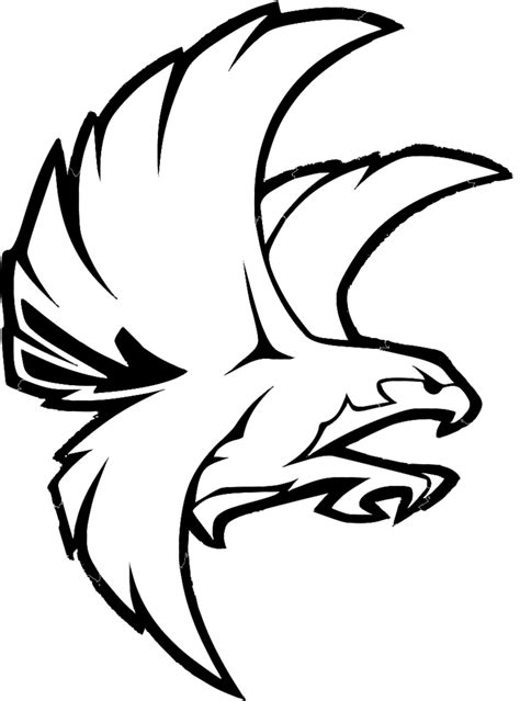 Black Hawk Outline by Falcon Clip Free Clipart Best