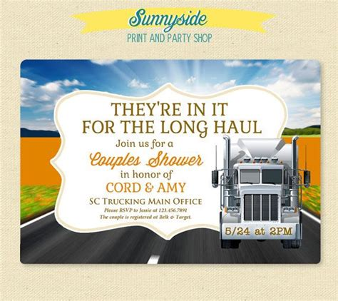 the wedding invitation trailer 1000 images about trucker themed wedding on