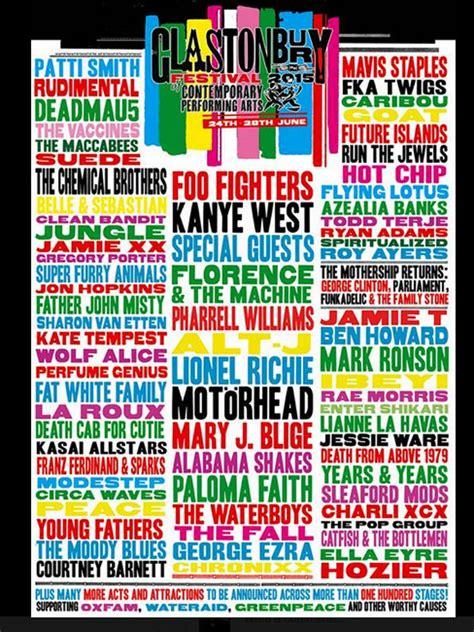 glastonbury festival line ups wikipedia the free glastonbury announce their 2015 line up gigwise