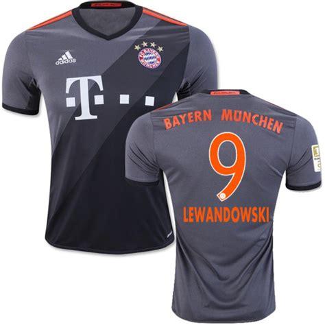 Limited Edition Jersey Bayern Munchen Away 2017 2018 Grade Ori 16 17 bayern munich 9 robert lewandowski authentic grey away jersey bayernmunchenplayershop