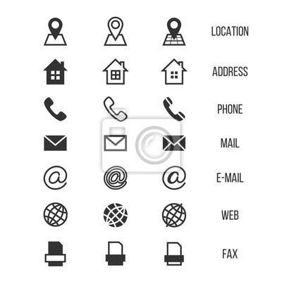 Visitenkarten Zu Hause Drucken by Visitenkarte Vektor Icons Zu Hause Telefon Adresse