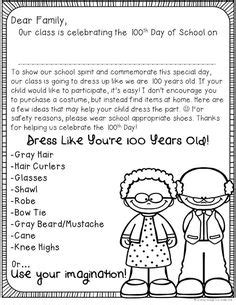 Parent Letter Exles Day Of School 100th day parent letter winter months