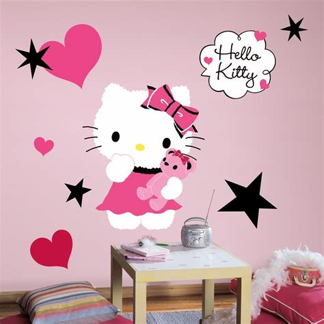 girls bedroom wall decor new large hello kitty couture wall decals girls bedroom