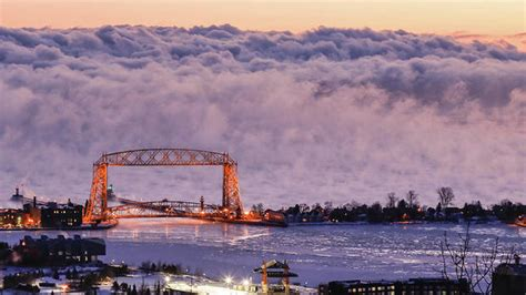 lake superior sea smoke duluth photographer s dramatic shot of lake superior sea