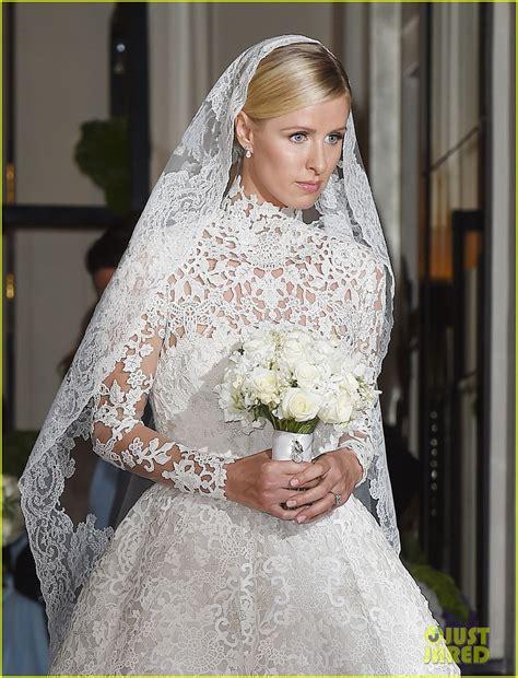 nicky hilton wedding dress full sized photo of nicky hilton steps out in wedding