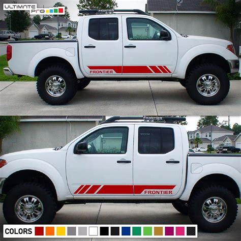 nissan frontier decal decal sticker graphic side stripe kit for nissan frontier