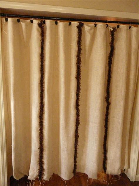 curtain trim brown trim burlap shower curtain