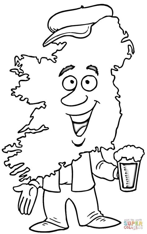ireland coloring pages map of ireland coloring page supercoloring