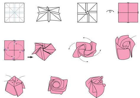 tutorial origami rosa italiano origami flower flower crafts origami pinterest