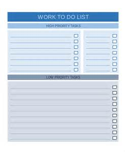 Work To Do List Template To Do List 13 Free Word Excel Pdf Documents Download