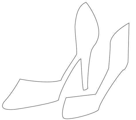high heel shoe design template moldes picmia