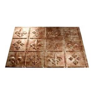 fleur de lis 18 in x 24 in pvc decorative tile