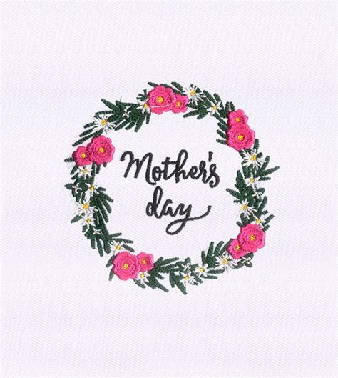 mother s day designs flowers garland mothers day embroidery design embmall