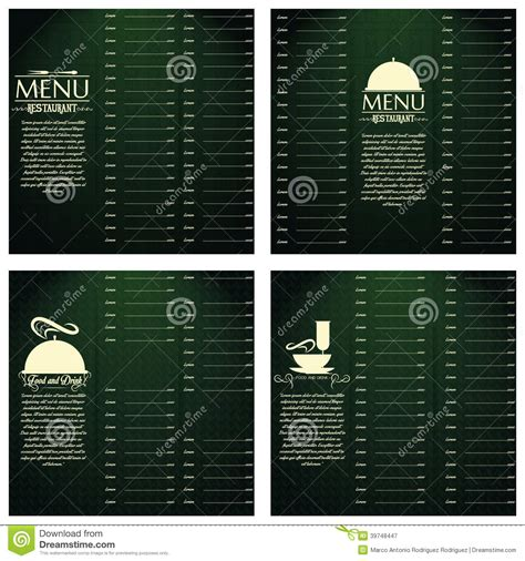 menu card templates vector free restaurant menu cards design template editable stock
